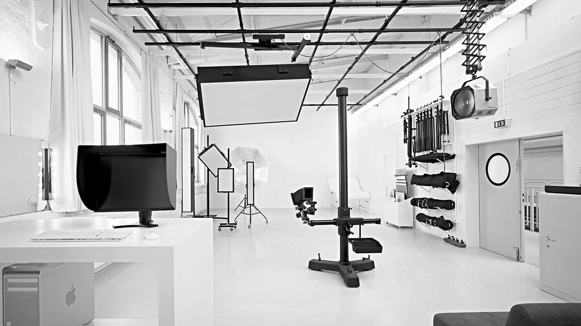 Studio Leipzig mit Deckenschienensystem
