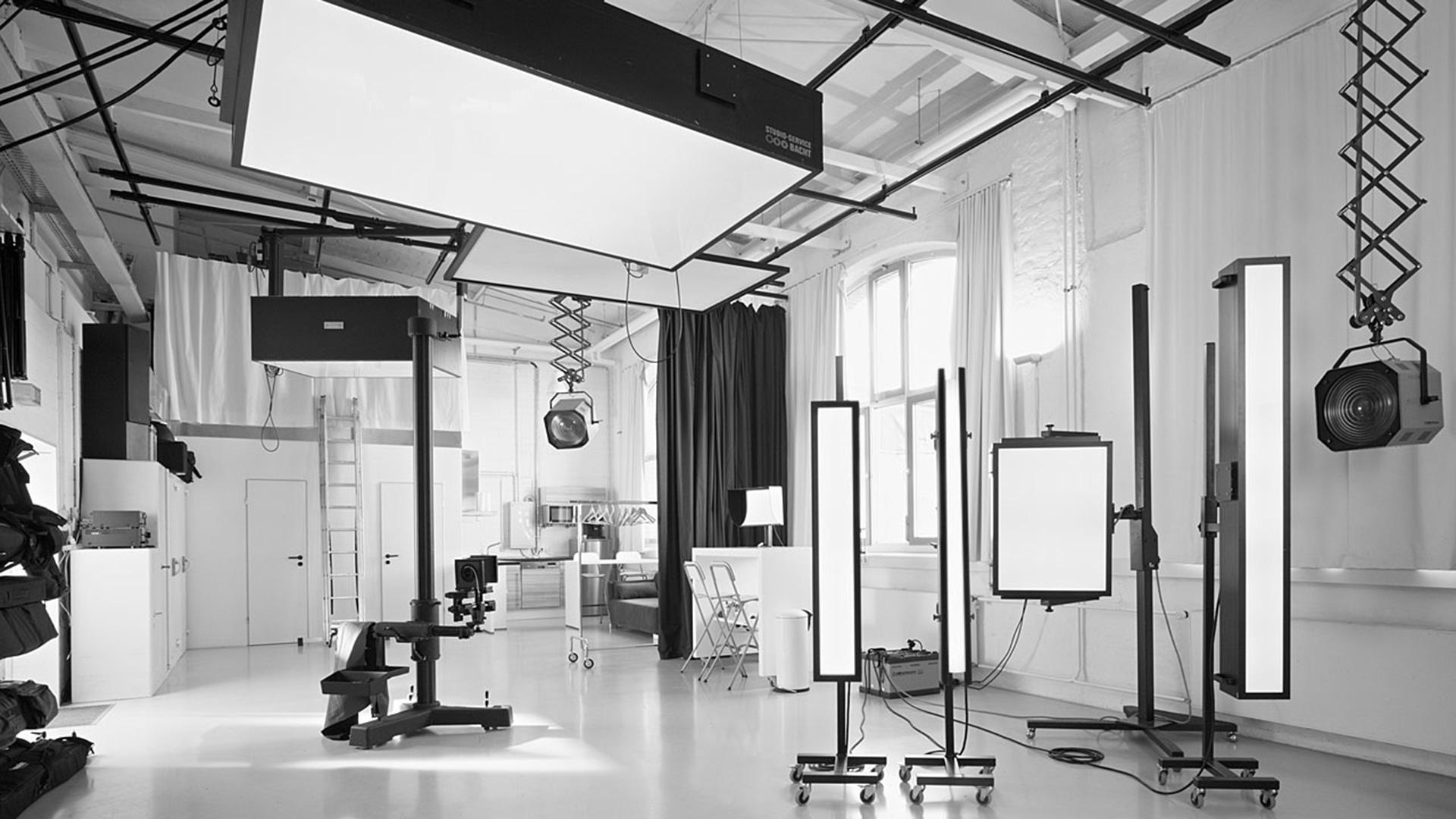 Studio Leipzig mit umfangreicher Lichttechnik
